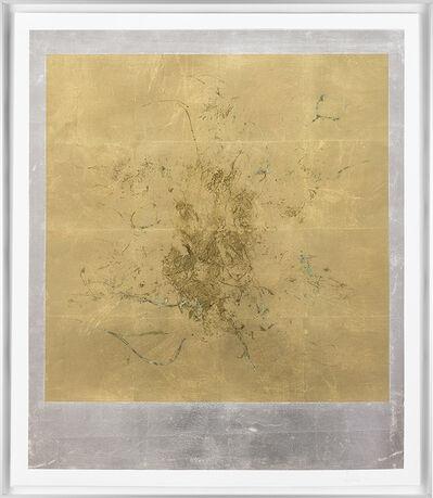 Pierre Vermeulen, 'Macro hair orchid sweat print, aluminium scape', 2018