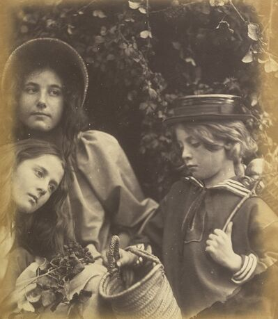 Julia Margaret Cameron, 'Elizabeth Keown, Kate Keown, and Freddy Gould', ca. 1866-1868