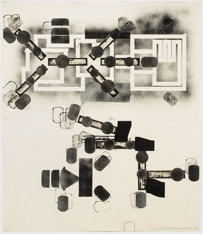Barry Le Va, 'Sculptured Activities (Entrance-Exit with Abscessed Plan)', 1988-89