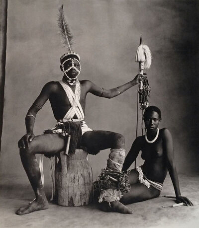 Irving Penn, 'Cameroon, Seated Warrior, Seated Girl', Neg. date: 1969 / Print date: 1973