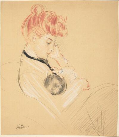Paul César Helleu, 'Madame Helleu Cradling Paulette in Her Arms', 1904/1905