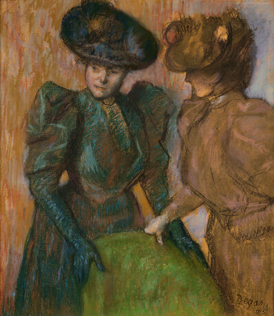 Edgar Degas, 'The Conversation', 1895