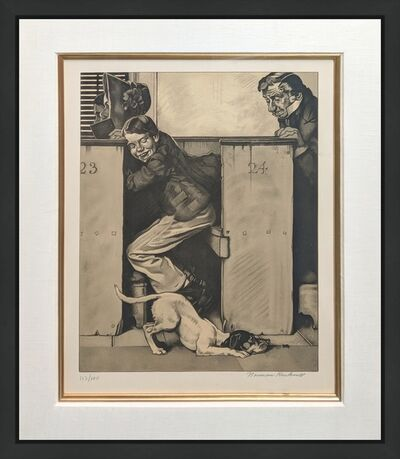 Norman Rockwell, 'CHURCH (SEPIA)', 1976