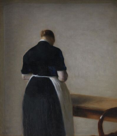 Vilhelm Hammershøi, 'Woman Seen from the Back', 1888