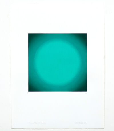 Ruth Pastine, 'Circle, Green Light Series', 2018