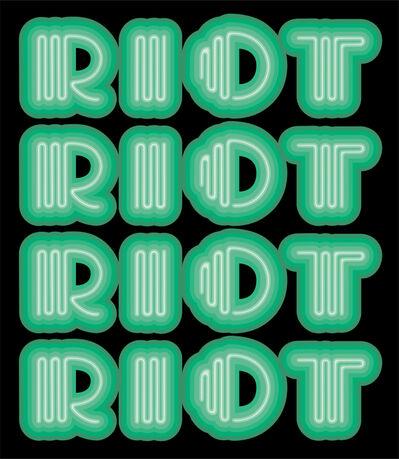 Ben Eine, 'RIOT (Green)', 2015