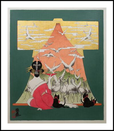 Hideo Takeda, 'Fuji Cranes', 2018
