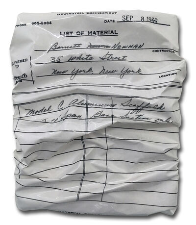 Caro Jost, 'INVOICE PAINTING B.N. September 8, 1969', 2017