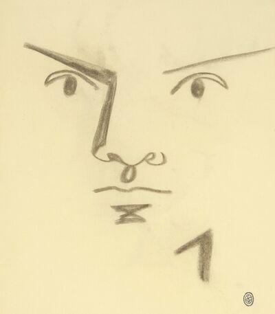 Jean Cocteau, 'Visage d'Homme de Face.', 1958