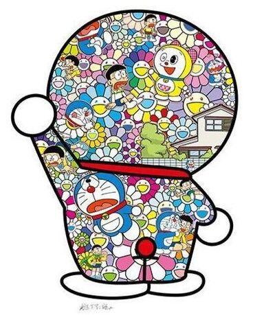Takashi Murakami, 'Doraemon in the Field of Flowers (Signed), (1000 edition)', 2020