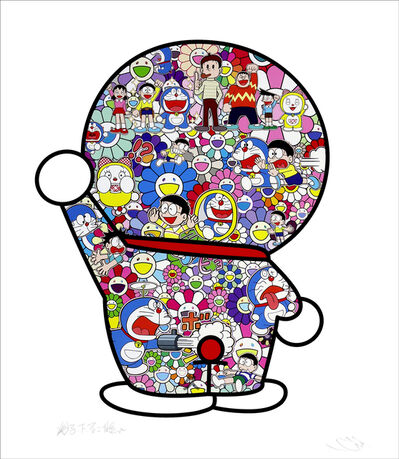 Takashi Murakami, 'Doraemon: Mr. Fujiko F. Fujio and Doraemon Are in the Fields Lithograph', 2020