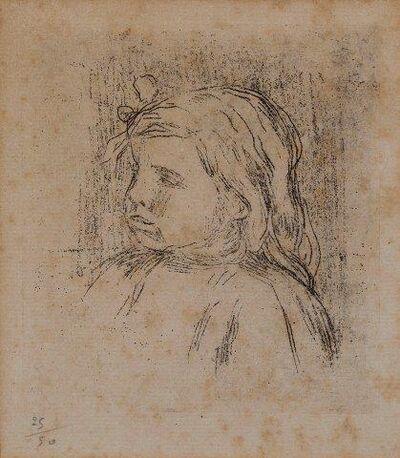 Pierre-Auguste Renoir, 'Claude Renoir, de trois-quarts a gauche [Stella 19]', 1908