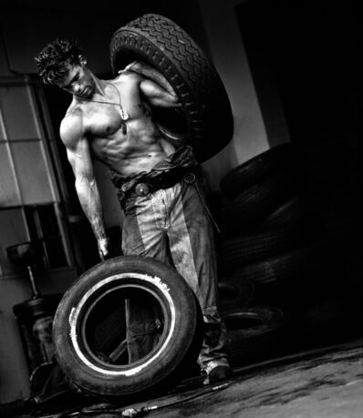 Herb Ritts, 'Fred with Tires VI, Hollywood', 1984