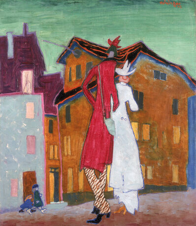 Lyonel Feininger, 'HONEYMOON', 1908