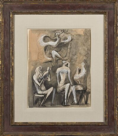 Henry Moore, 'Seated Figures', 1950-1951