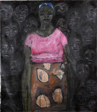 Nelly Guambe, 'Leaning On Her', 2019