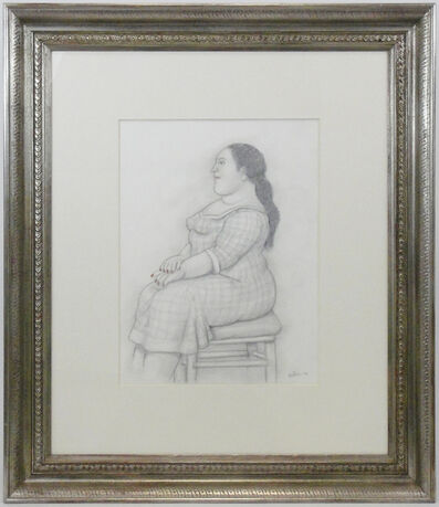 Fernando Botero, 'Woman with red nail polish (Donna con smalto rosso)', 2006