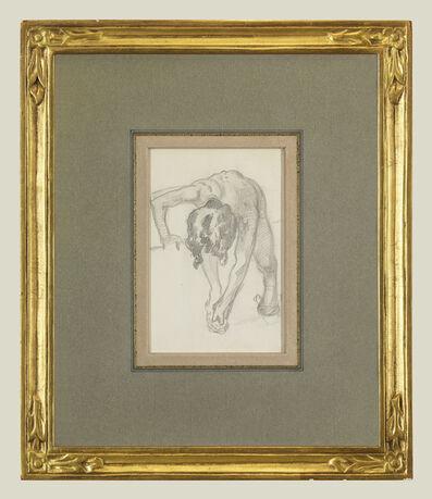 John Singer Sargent, 'Figure Bending Over', 1874