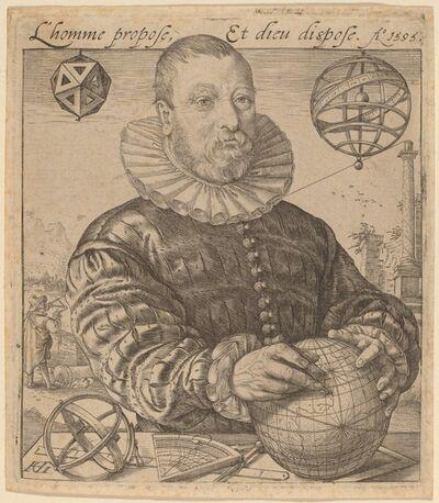 Hendrik Goltzius, 'Nicolaus Petri van Deventer', 1595