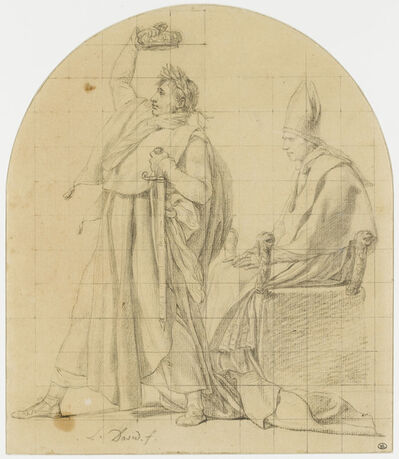 Jacques-Louis David, 'Napoléon se couronnant lui-même en présence du pape assis (Napoleon crowning himself in the presence of the seated pope)'
