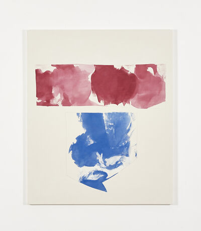 Peter Joseph, 'Red and blue shapes (May 2014)', 2014