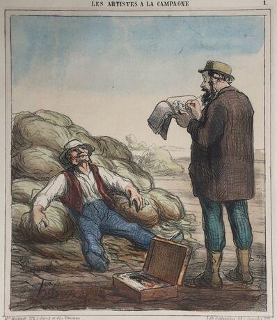 Honoré Daumier, 'LES ARTISTS A LA CAMPAGNE ', 1863