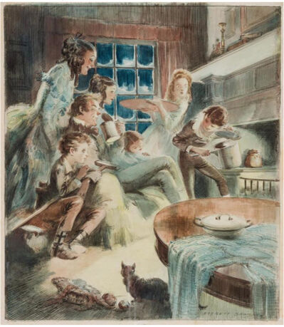 Everett Shinn, 'Tiny Tim by Charles Dickens', 20th Century