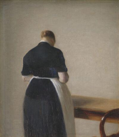 Vilhelm Hammershøi, 'Woman seen from the Back', 1888