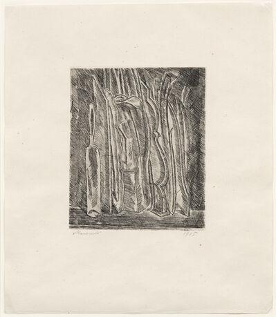 Giorgio Morandi, 'Natura morta con bottiglia e brocca, 1915 (Vitali 3)', 1915