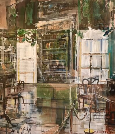 Alison Pullen, 'Osterley Park House, Library (forest green)', 2018