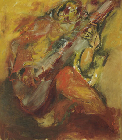 Krishen Khanna, 'Untitled (Portrait of Ali Akbar Khan)'