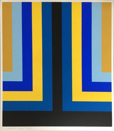 Howard Mehring, 'Untitled Signed & Dated Artist's Proof (in black, blue, yellow, royal blue, pale plue, and gold)', 1969