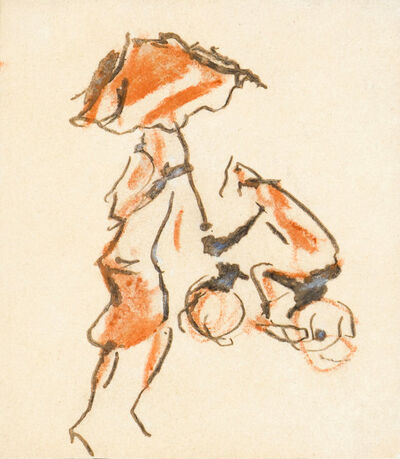 Christian Rohlfs, 'Straßenszene', 1928