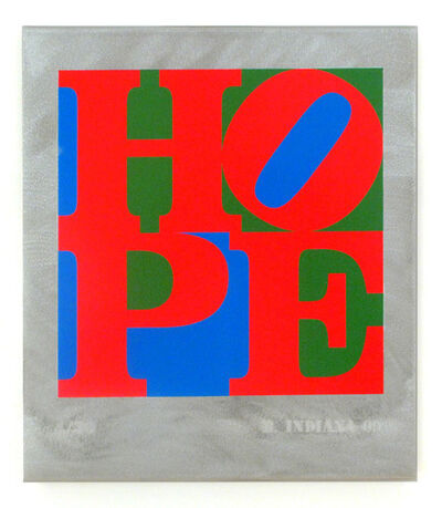 Robert Indiana, 'HOPE Red Green Blue', 2009