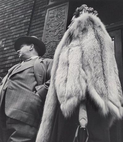 Leon Levinstein, 'Man in Suit, Woman in Fur Coat', 1954