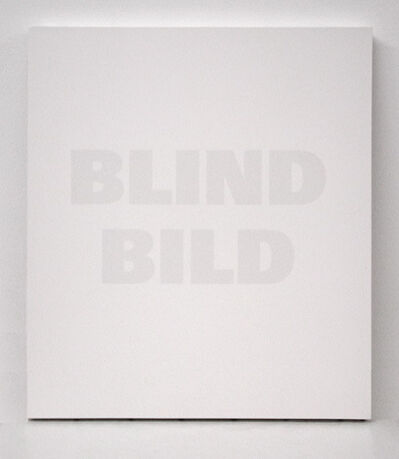 Remy Zaugg, 'Blind Bild', 1992
