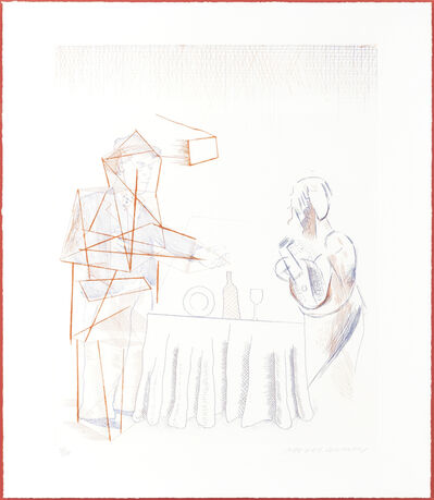 David Hockney, 'Figure with Still Life', 1976-77