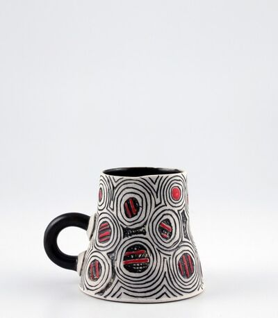 Harris Deller, 'Cup, untitled with circles and orange dashes', 2019
