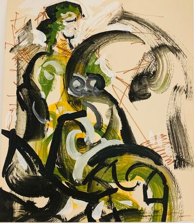 Walter Quirt, 'Untitled (Seated Figure in Green)', ca. 1964