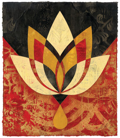 Shepard Fairey, 'Bleeding Lotus, Version 2', 2018