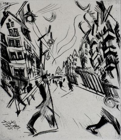 Ludwig Meidner, 'Street in Wilmersdorf, from: The Creators   Straße in Wilmersdorf, von: Die Schaffenden', 1913