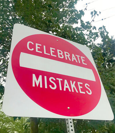 "Scott Froschauer, '""Celebrate Mistakes""-Contemporary Street Sign Sculpture', 2017"