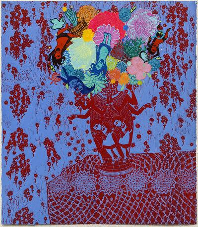 Stephanie Mercado, 'Flourish (Red Blue)', 2018