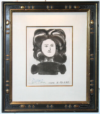 Pablo Picasso, 'Buste de Femme de Face from Gongora, Vingt Poemes', 1947