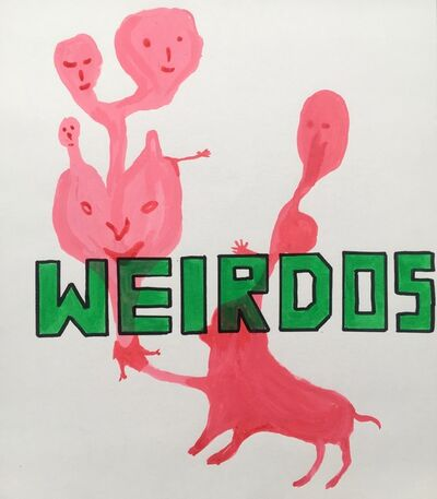 David Shrigley, 'Untitled (WEIRDOS)', 1999