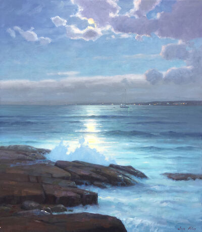 Sam Vokey, 'Moonlight On The Bay', 2020
