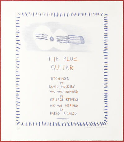David Hockney, 'The Blue Guitar (Title Page), from 'The Blue Guitar' (MCA Tokyo 178; Scottish Arts Council 199)', 1976-77