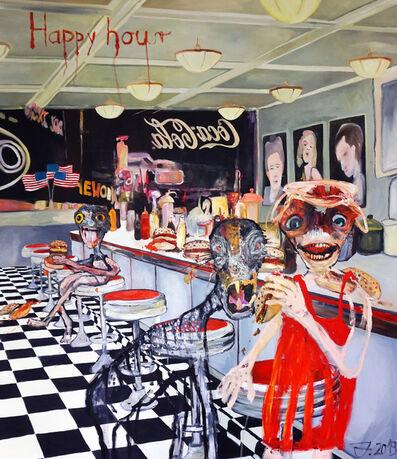 "Juliane Hundertmark, '""Happy Hour""', 2018"