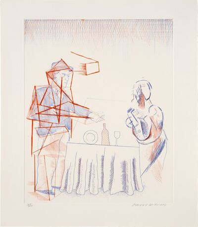 David Hockney, 'The Blue Guitar Portfolio of Twenty Etchings', 1976-1977