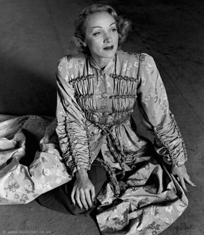 Lee Miller, 'Marlene Dietrich in Schiaparelli coat, Paris, France', 1944